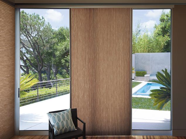 Vertical blinds panel track window treatments denver co for Hunter douglas motorized vertical blinds