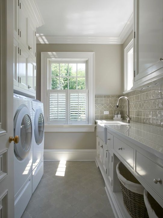 Shutters In The Laundry Room